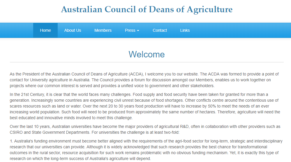 Australian Council of Deans of Agriculture (ACDA)
